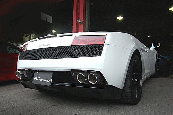 画像1: [Lamborghini ランボルギーニ  ガヤルド/スパイダー LP550-2 / LP560-4 マフラー]  F1サウンド バルブトロニック エキゾーストシステム